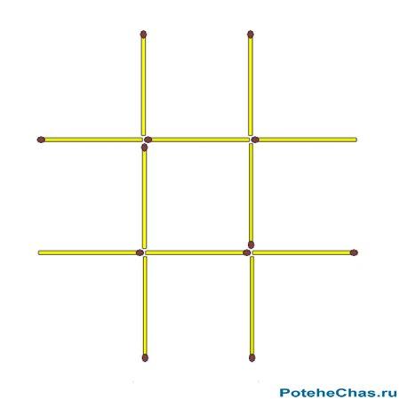 Как сделать из десяти спичек два квадрата 137